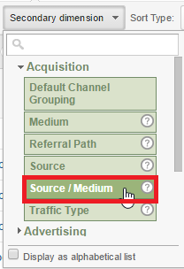 Source and Medium